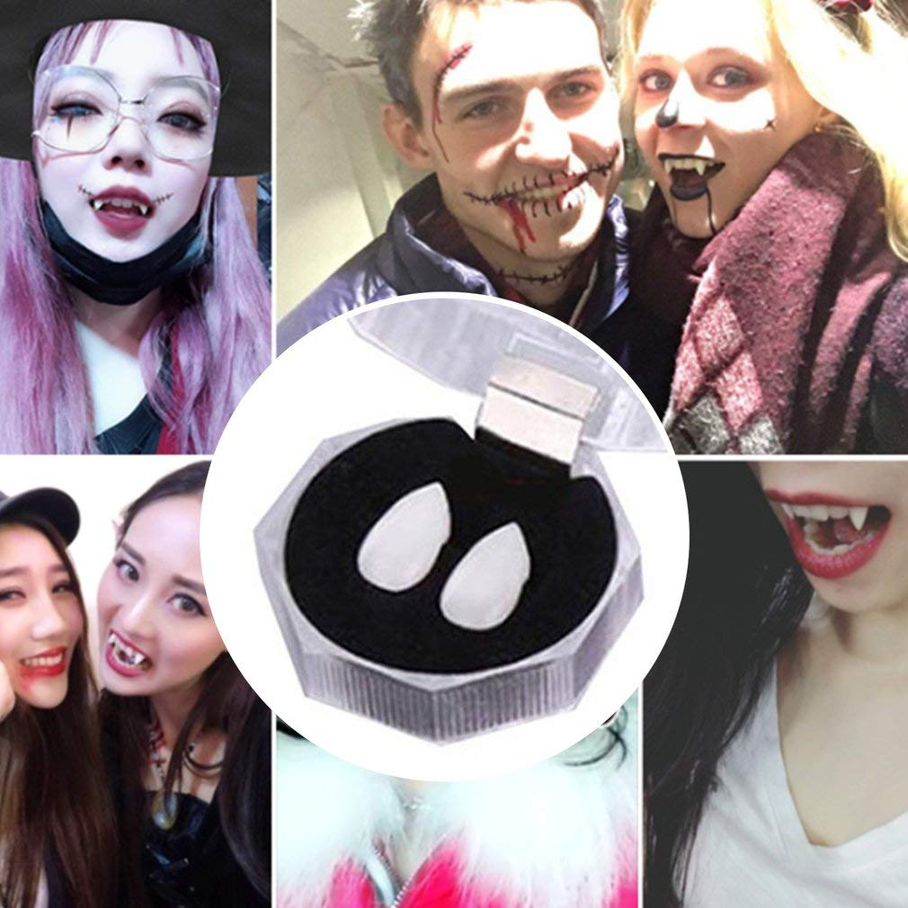 Vampire Tooth Fangs Dentiera Denti Falsi Festa di Halloween Cosplay Puntelli off White 13mm