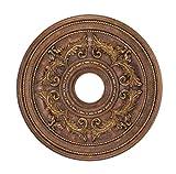 Livex Lighting 8200-30 Ceiling Medallion, Crackled Greek Bronze