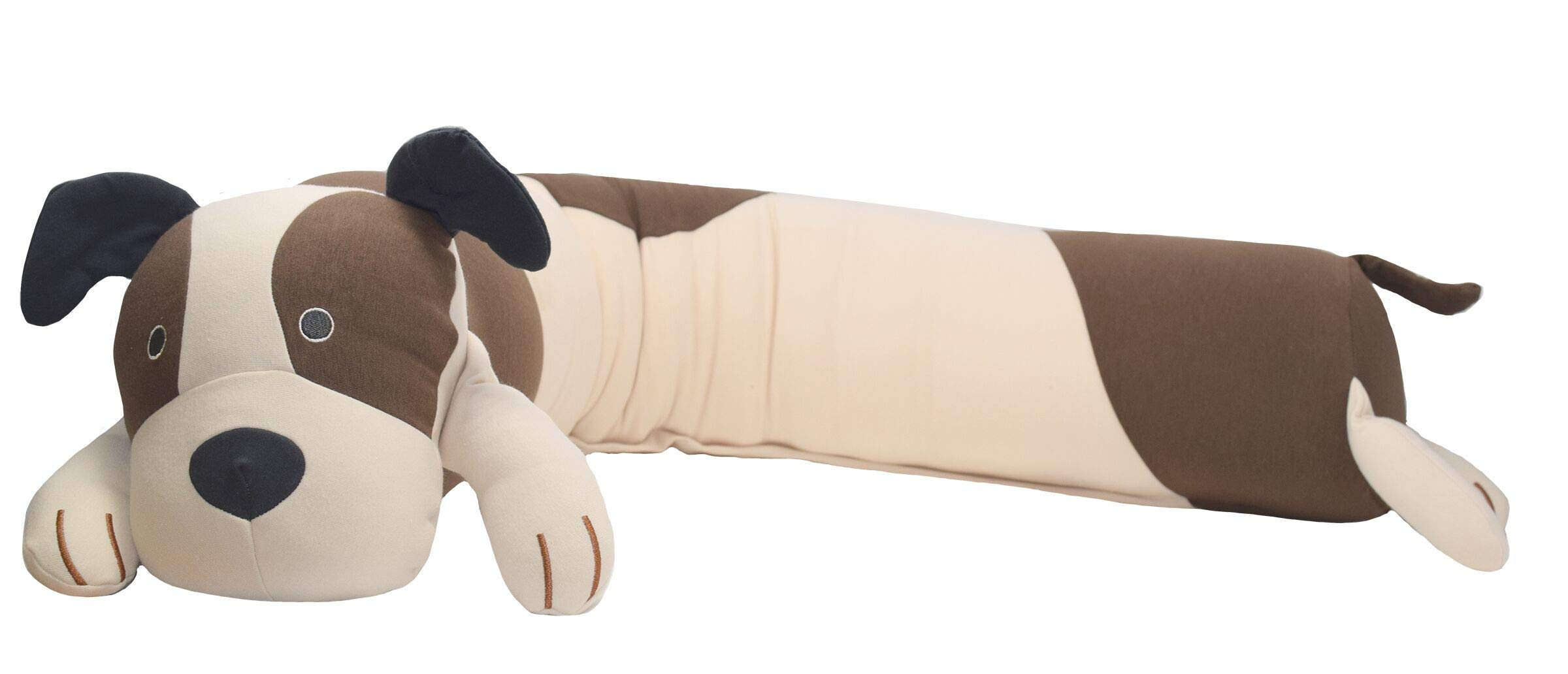 Yogibo Mates Roll Pillow - Comfortable Cylindrical Pillow w/ Patented Fibead Filling - Removable Machine Washable Cotton & Spandex Cover - Perfect to Cuddle - Amazing Neck & Back Support - [Dog]