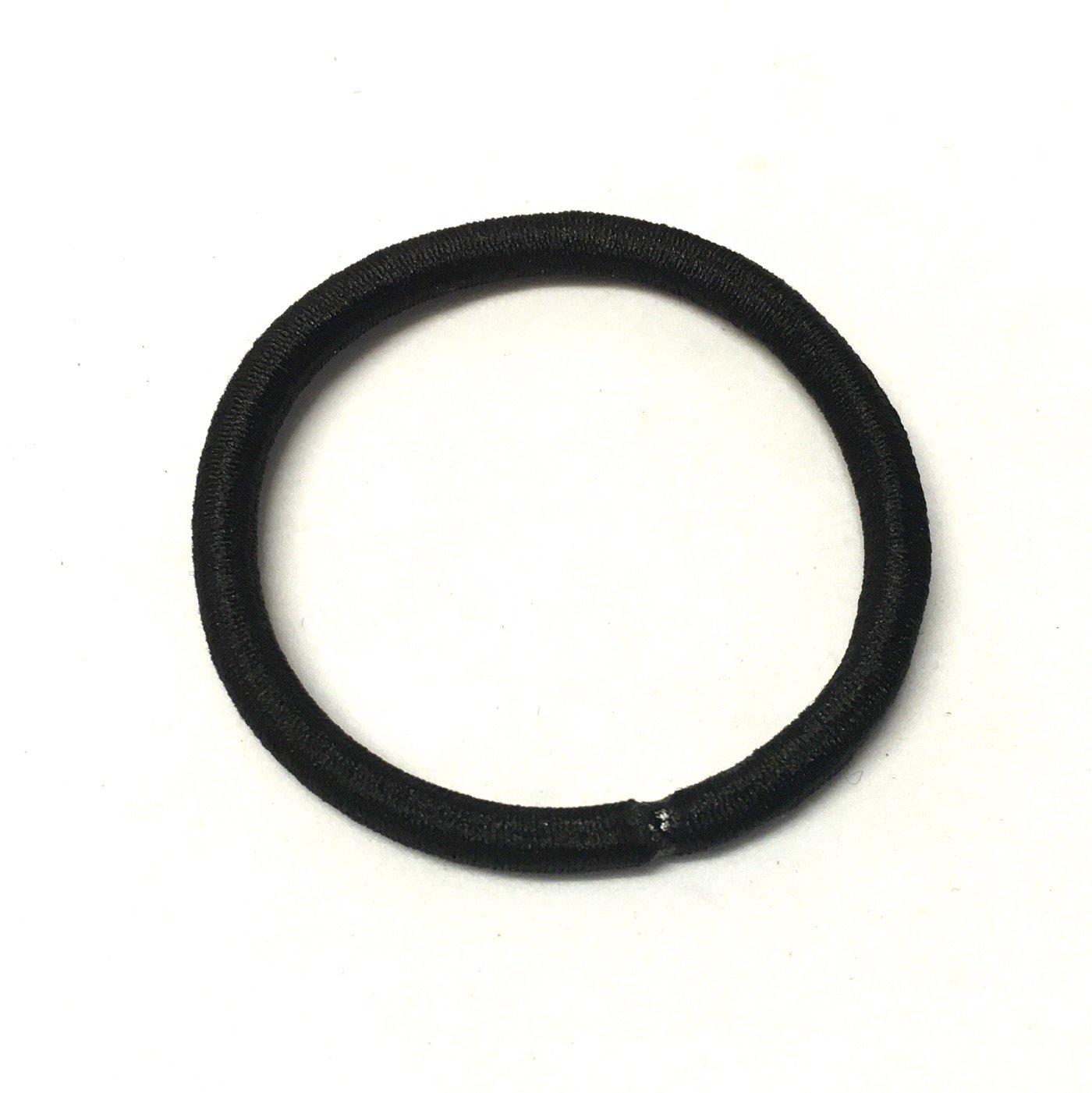 25/negro nailon el/ástica de pelo cintas para hacer accesorios para el pelo y lazos