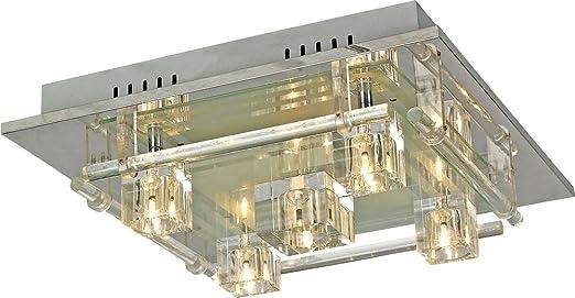 LED RGB Deckenlampe Deckenleuchte Fernbedienung Effektleuchte Wohnzimmer Esto Zirkonia 974086 5