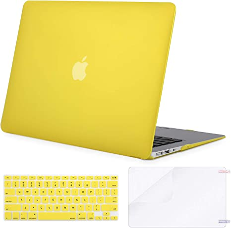 Silicone Keyboard Cover Skin Protector Film Case Cover for MacBook Laptop Notebook 13 Inch,Yellow