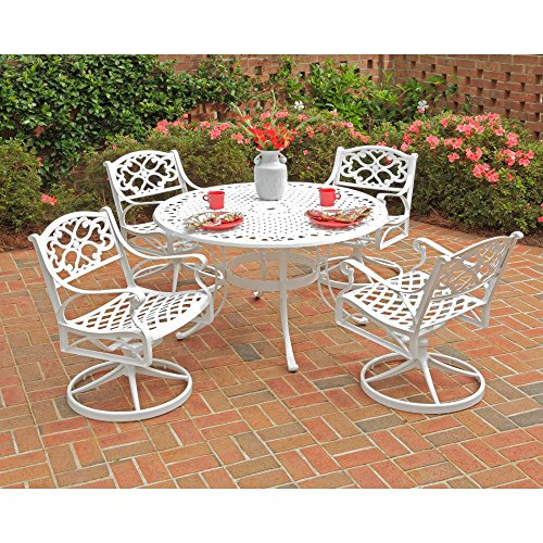 Home Styles Biscayne 42 in. Swivel Patio Dining Set - Seats