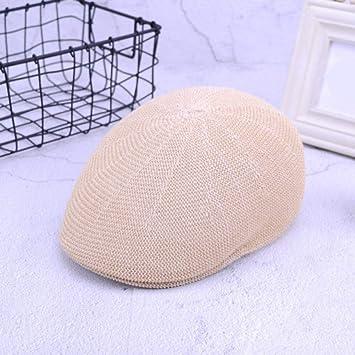 HSLPLX Gorras de Boina de Malla Nueva de Verano Sombreros ...