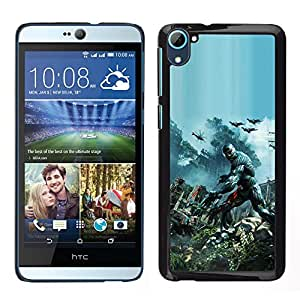 Juego Crys1s - Metal de aluminio y de plástico duro Caja del teléfono - Negro - HTC Desire D826