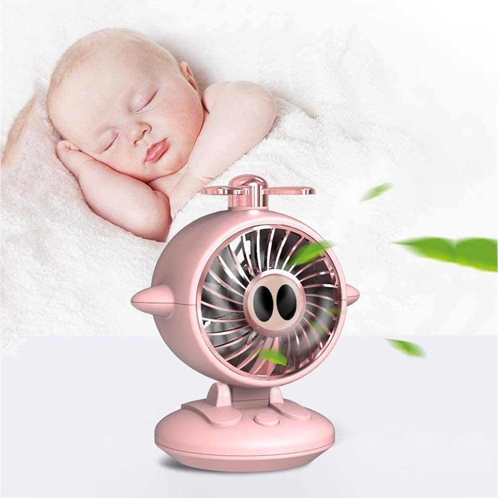 Color : Pink Hand Fan,USB Rechargeable Mini Student Dormitory Desktop Cute Mute Large Wind Small Portable Fan