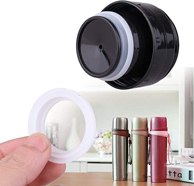 UK 10Pcs Thermal Vacuum Bottle Flask Cover Stopper Cup Sealing O-Ring Gasket Lid