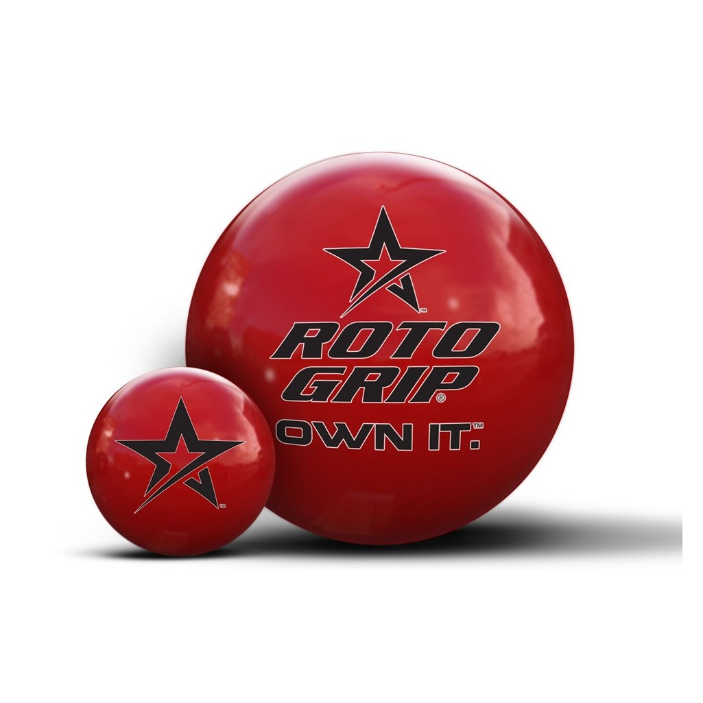 Roto-Grip Own It Red Clear Polyester Bowling Balls, 16-Pounds