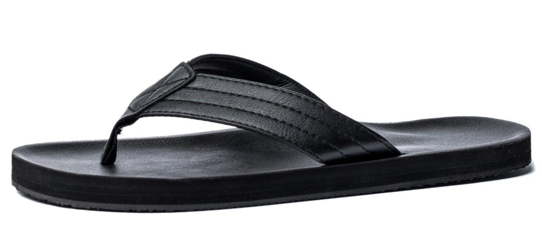 VIIHAHN Men's Flip Flops Summer Beach Sandals Extra Large Size Arch Support Slippers GHS037