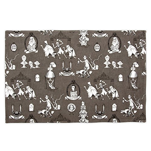 Disney The Haunted Mansion Wallpaper Placemat - Characters Gray]()