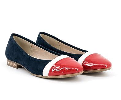 wholesale dealer 0118a c9d3a Jana - Damen Schuhe Ballerina Blau, Weiß, Rot - 8-22165-22 ...