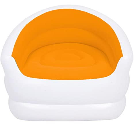 Incredible Colour Splash Lounge Chair Seat Inflatable Couch Sofa Camping Gaming Pod Beach Orange Dailytribune Chair Design For Home Dailytribuneorg