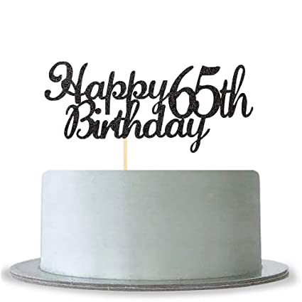 Image Unavailable Not Available For Color WeBenison Happy 65th Birthday Cake Topper
