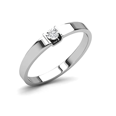b15d7c373f7c37 Buy CaratLane .925 Sterling Silver and Diamond Ring Online at Low Prices in  India   Amazon Jewellery Store - Amazon.in