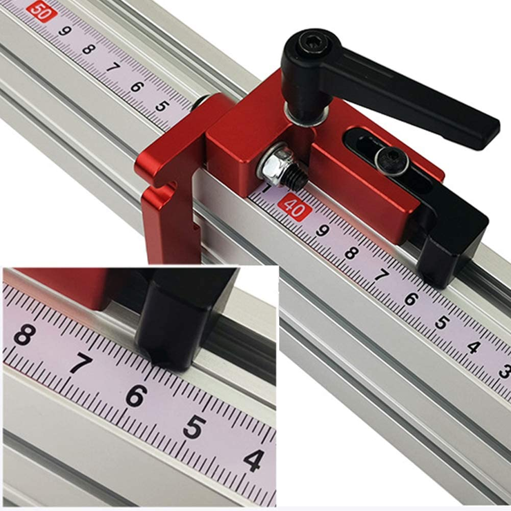 Aluminum Alloy T-Slot T-Tracks Limiter Chute Fence Woodworking DIY Manual Tool High Accuracy Faderr 75 Type Miter Track Stop