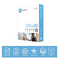 Deals on HP Printer Paper 8.5x11 Office 20 lb 1 Ream 500 Sheets 92 Bright Made