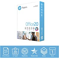 Deals on HP Printer Paper 8.5x11 Office 20 lb 1 Ream 500 Sheets