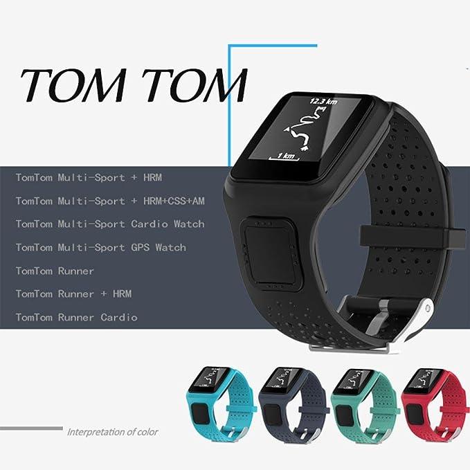 KOBWA TomTom Correa de reloj de silicona de repuesto para TomTom ...