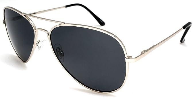 Unisex clásico aviador polarizado gafas de sol – bañado en níquel de metal
