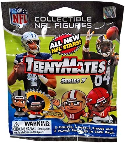 4 Teenymates Mystery Pack Bag Party Animal NFL Series 7 Figure 2 Minifigure Card