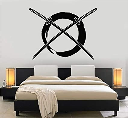 stickers muraux chambre gar Enso Circle Samurai Crossed ...