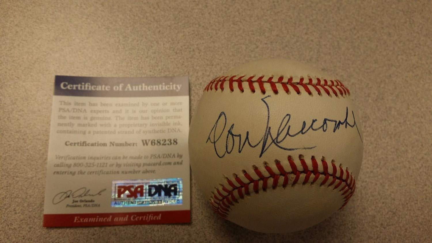 Don Newcombe Dodgers Authentic Hand Autographed Signed Baseball Psa Dna Coa