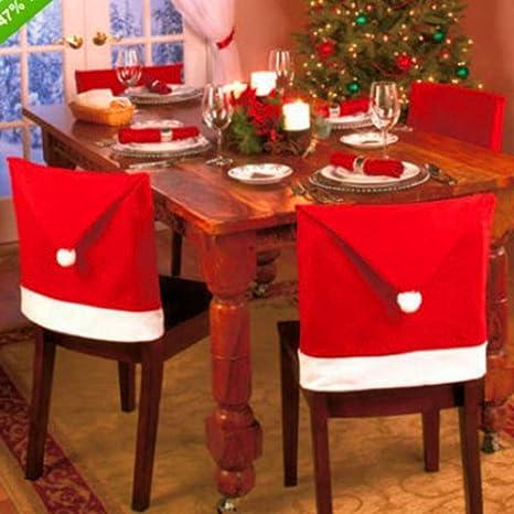 Amazon.com Bluelans 1PC Santa Clause Red Hat Chair Back