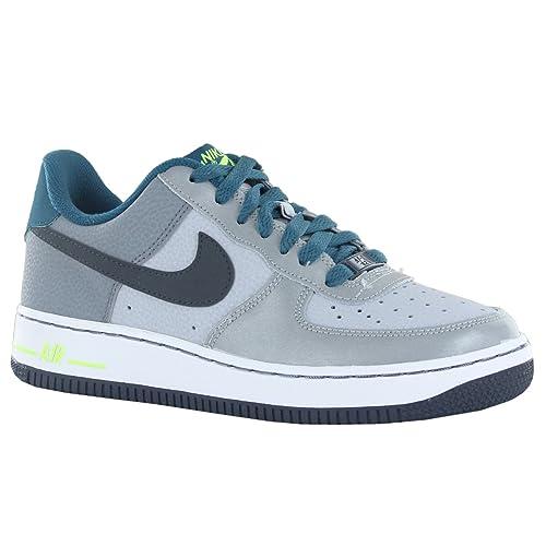 017b3dbb7608d Nike Nike Air Force 1 (GS) - Zapatillas de Piel para Hombre Gris Gris   Amazon.es  Zapatos y complementos