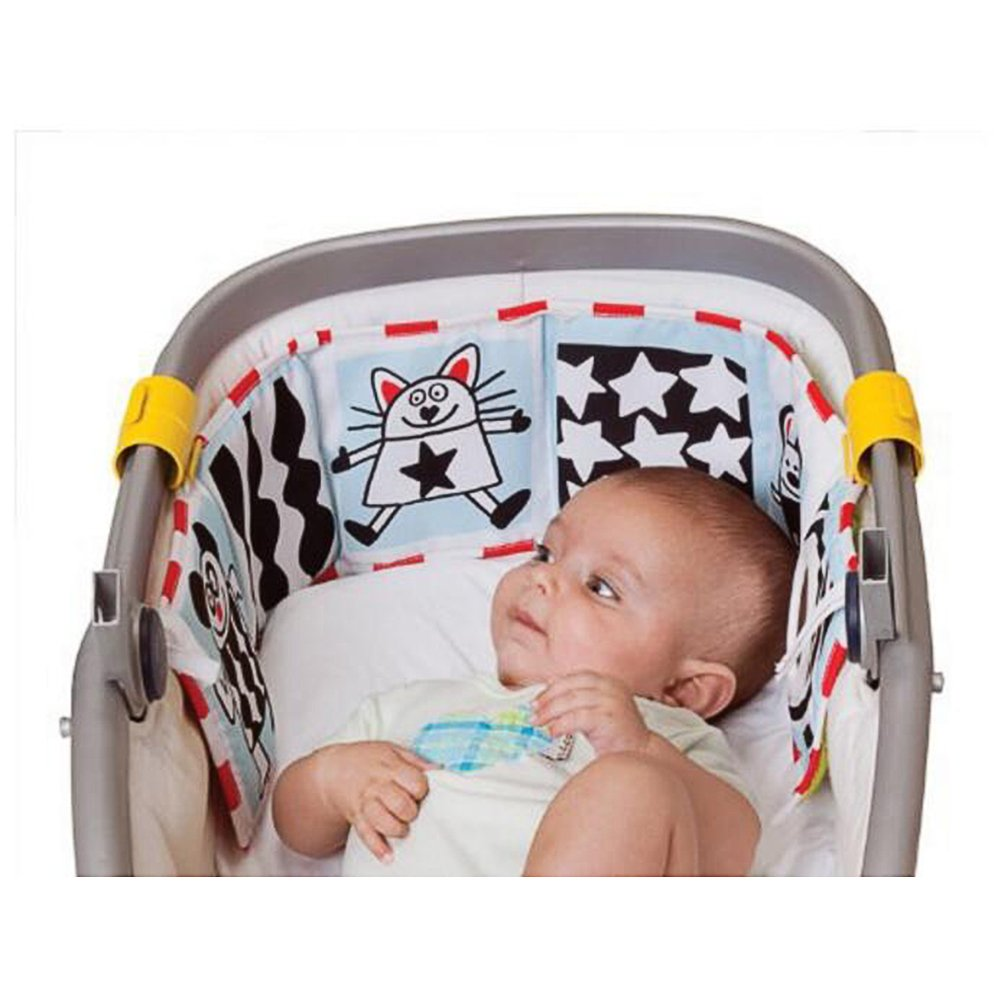 Cute Baby Gallery Infant Kid Crib Pram Gallery Development Puzzle Animal Cloth Book Toy AZX
