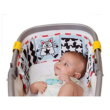 colorful Lalang Baby Pram Gallery Book Clip on Cloth Book Development Puzzle Animal Cloth Book Toy