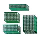 ROSENICE 20pcs Double Face Prototype PCB Circuit Imprimé Universelle 5x7cm 4x6cm 3x7cm 2x8cm