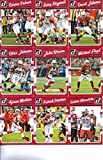 2016 Donruss Football Arizona Cardinals Team Set of 11 Cards: Carson Palmer(#1), Larry Fitzgerald(#2), David Johnson(#3), Chris Johnson(#4), John Brown(#5), Michael Floyd(#6), Tyrann Mathieu(#7), Patrick Peterson(#8), Kurt Warner(#9), Chandler Jones(#10), Robert Nkemdiche(#336)