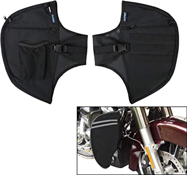 Highway Foot Pegs Soft Lowers Chaps Leg Warmer Bag For Sportster Touring Black