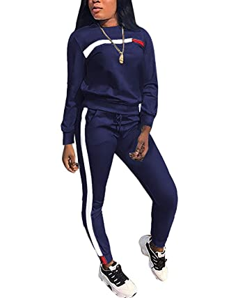 73e6798af90a Tempatation Women's Velour Tracksuit Set Sequin 2 Piece Outfit Long Sleeve  Hoodie and Pants Sweatsuit (