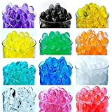 jelly beads vase - 12 Pack Combo Sooper Beads Decoration Vase Filler - Water Beads Gel - 12 Colors - 5 grams per pack make over a quart per pack - Wedding Decoration Vase Filler - Furniture Decorative Vase Filler - ALMOST 3 GALLONS of BEADS TOTAL