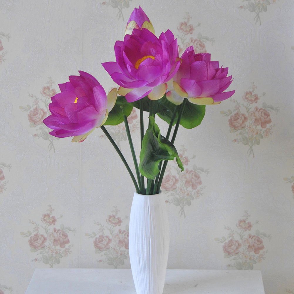Amazon Xhsp 2 Bouquets Altitude Artificial Lotus Flowers Real