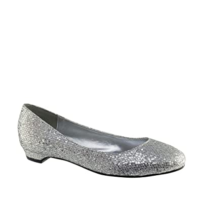 bfcb0167fcb Touch Ups Tamara Wide Fit (D) Silver Low Heel Wedding Shoes Size 5   Amazon.co.uk  Shoes   Bags