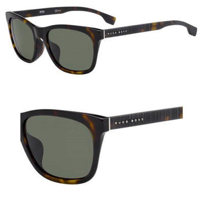 Amazon.com: Gafas de sol Boss Negro 1061 /F/S 0086 Oscuro ...