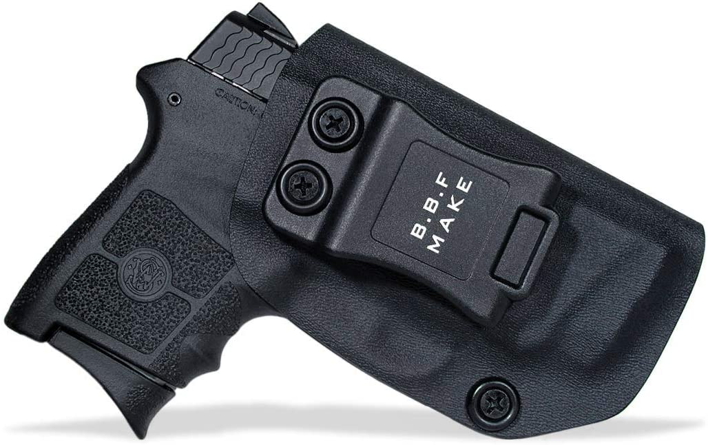 BBF Make IWB Tactical KYDEX Gun Holster - Custom Fit: Smith&Wesson M&P Bodyguard 380 / Laser S&W BG380 Funda Pistola Case Inside Waistband Concealed Carry Holster