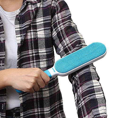 Pet Fur & Lint Remover Brush with Self-Cleaning Base, Extra-Large Double-Sided Lint Brush for Furniture,Clothes,Couch, Car Seat-Effective Dogs/Cats Hair Removal Tool (2pcs/set) by PETOU (Image #5)