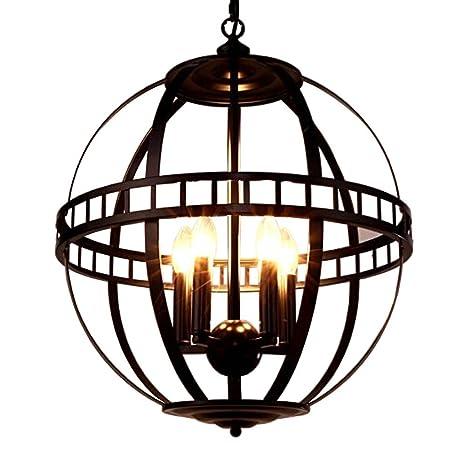 Lights & Lighting Ceiling Lights & Fans Chandelier Wrought Iron Circle Creative Chandelier Retro Restaurant Chandelier Led Lighting Fixture Led Vintage Chandelier Lamp