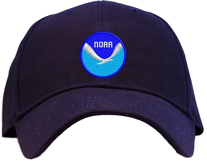 ed566199a15c Image Unavailable. Image not available for. Color  NOAA Logo Embroidered  Baseball Cap - Navy