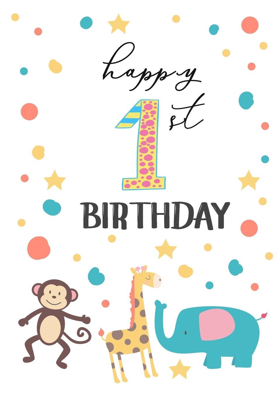 Happy 1St Birthday: Birthday Books For Children, Birthday