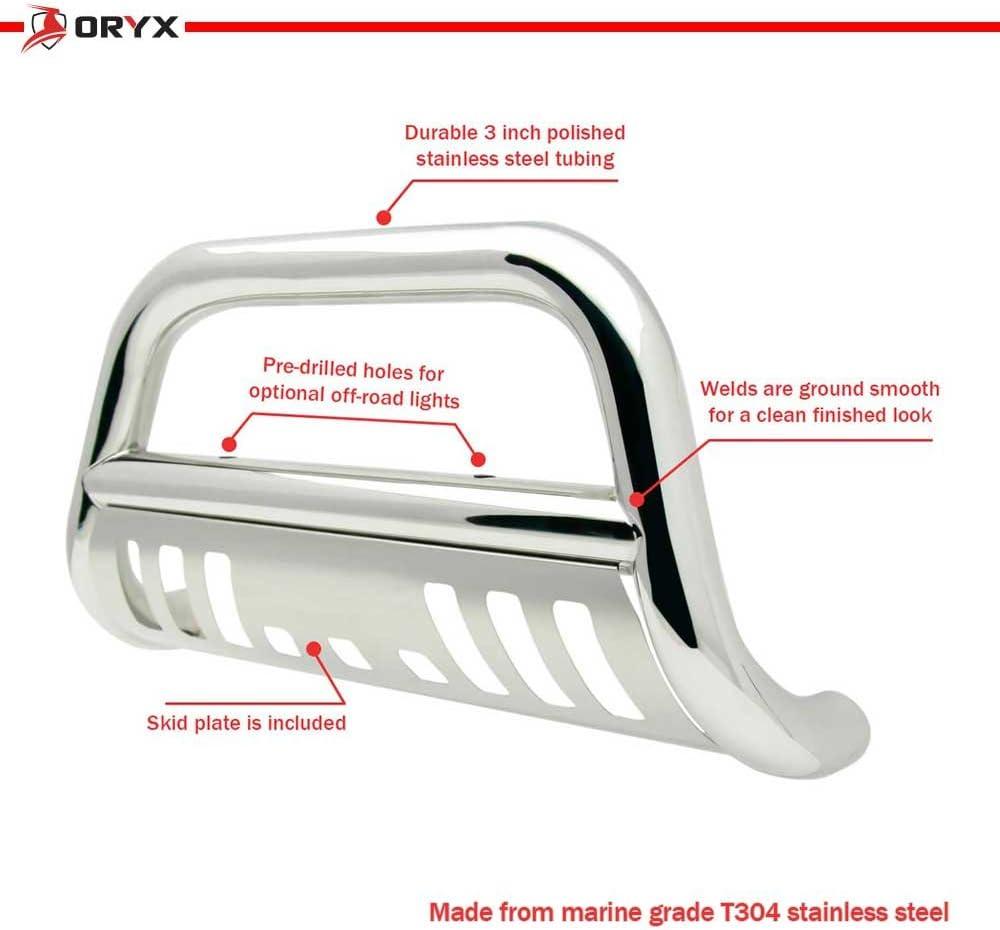 ORYX B5009US Chrome Stainless Steel Bull Bar Fits Honda Pilot 2009-2015