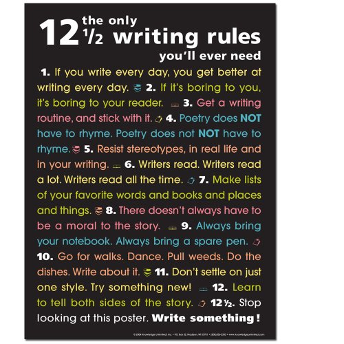The Only 12 1/2 Writing Rules You'll Ever Need- Poster ()