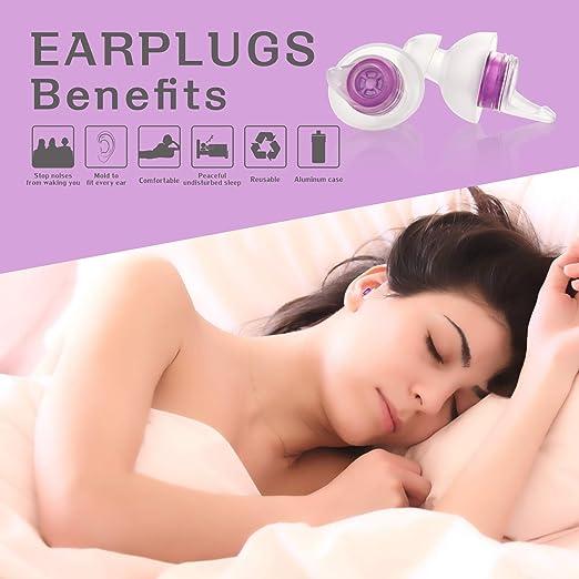 2x Earplug Ear Plug For Snoring Sleep Study Work Aid 35db Comfortable Noise Foam