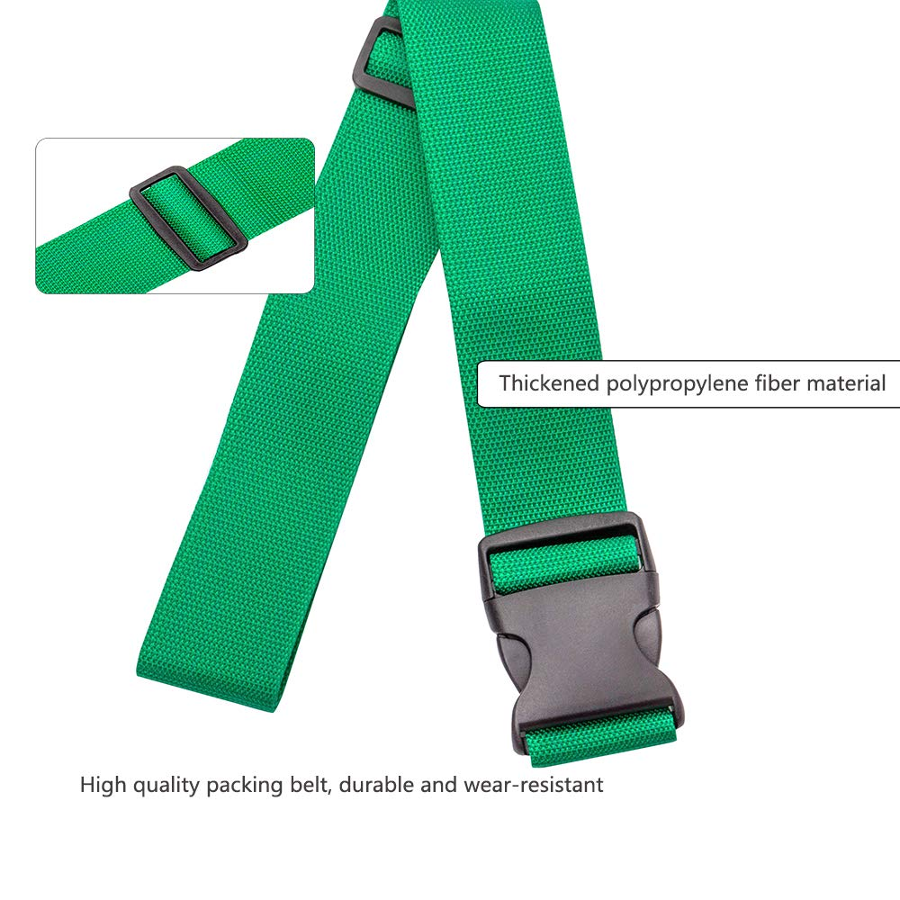 Oniche Luggage Straps Heavy Duty Travel Luggage Strap 2 Pcs Adjustable Suitcase Belts Travel Accessories by Oniche (Image #4)