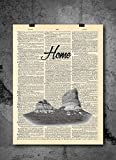 Court Hour Rock National Park - 1900's Vintage Dictionary Print 8x10 Inch QUALITY PRINTS - Focusing on making quality prints for the Home & Office. This 8x10 print is Ready-To-Frame and will fit perfectly in any Frame with Mat when delivered. Tha...
