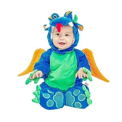 Disfraces Bebe Dinosaurio,Unisexo Animales Traje de Mameluco Bebés Peleles Halloween Carnaval Cosplay