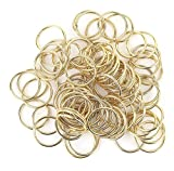 200 PCS Open Jump Rings Gold Plated Connectors DIY Jewelry Findings 25mm
